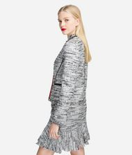 KARL LAGERFELD Bouclé Jacket with Accent Piping 9_f