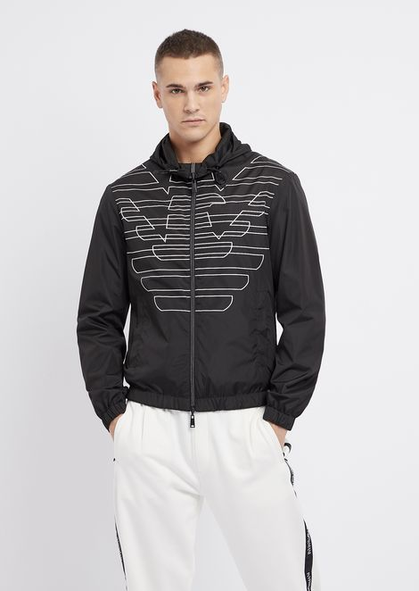 0b8394531a76 Reversible blouson with hood and zip