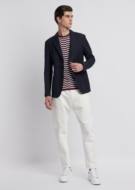 Cotton and thick linen jacket
