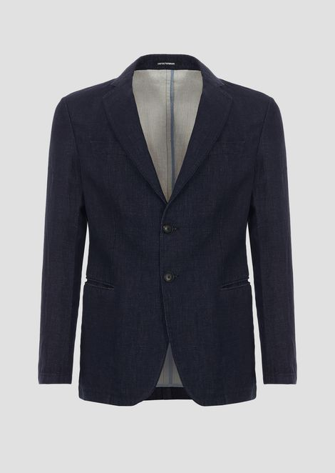 Cotton and double linen jacket