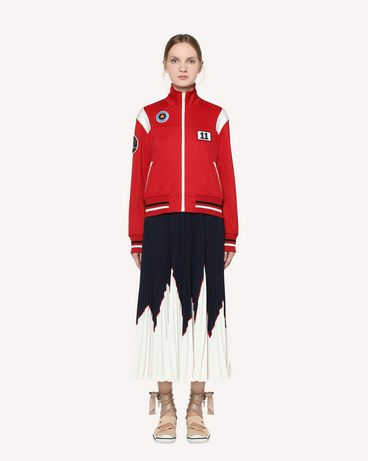 REDValentino Jersey acetate sweatshirt with embroidered space patches