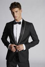 DSQUARED2 Silk Wool London Blazer With Crystal Bordered Collar JACKET/BLAZER Для Мужчин