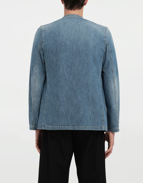 MAISON MARGIELA Collarless denim jacket Blazer [*** pickupInStoreShippingNotGuaranteed_info ***] e