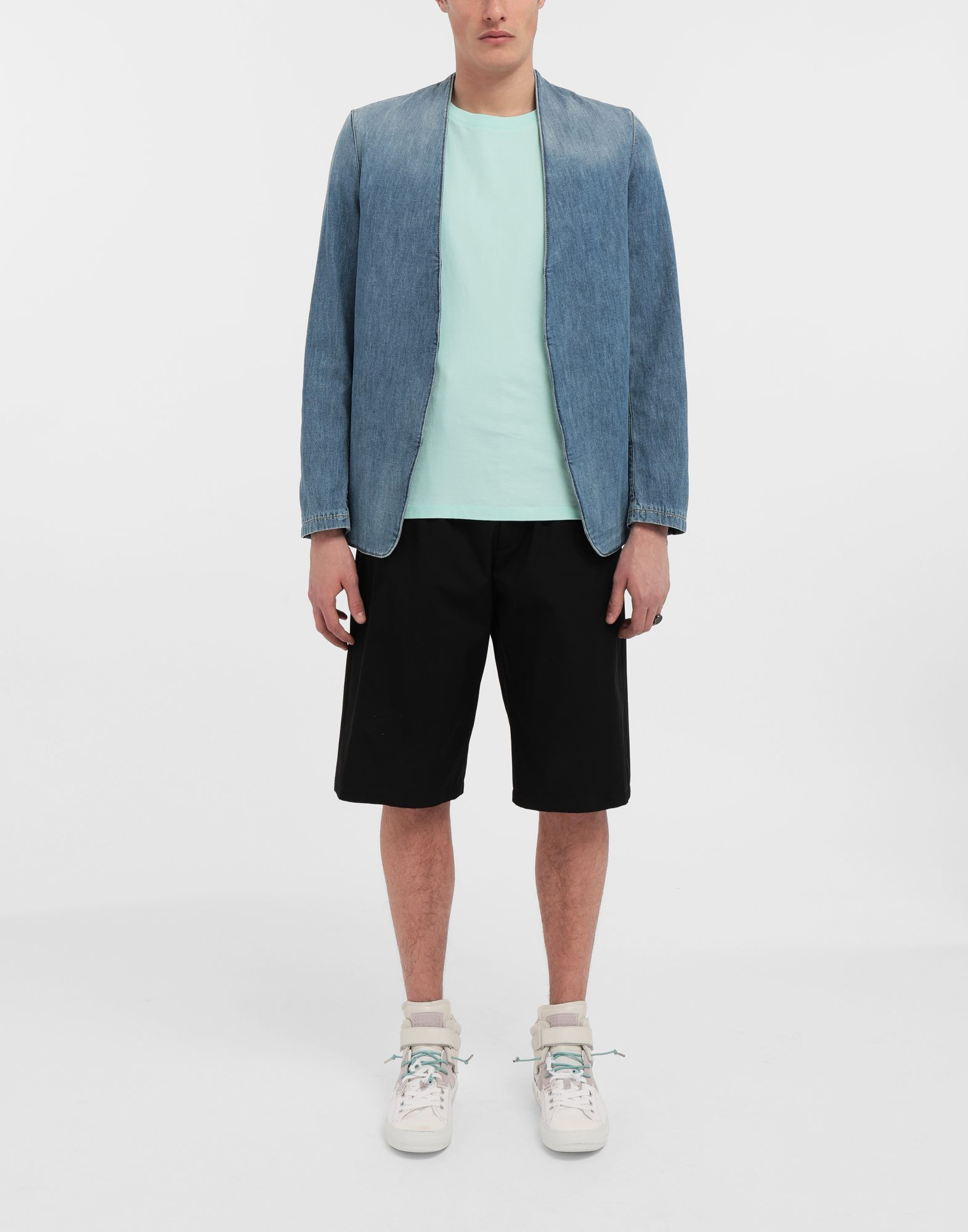 MAISON MARGIELA Collarless denim jacket Blazer Man d