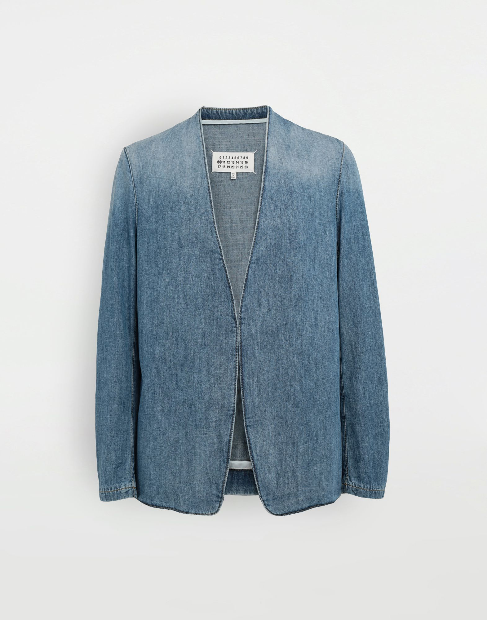 MAISON MARGIELA Collarless denim jacket Blazer Man f