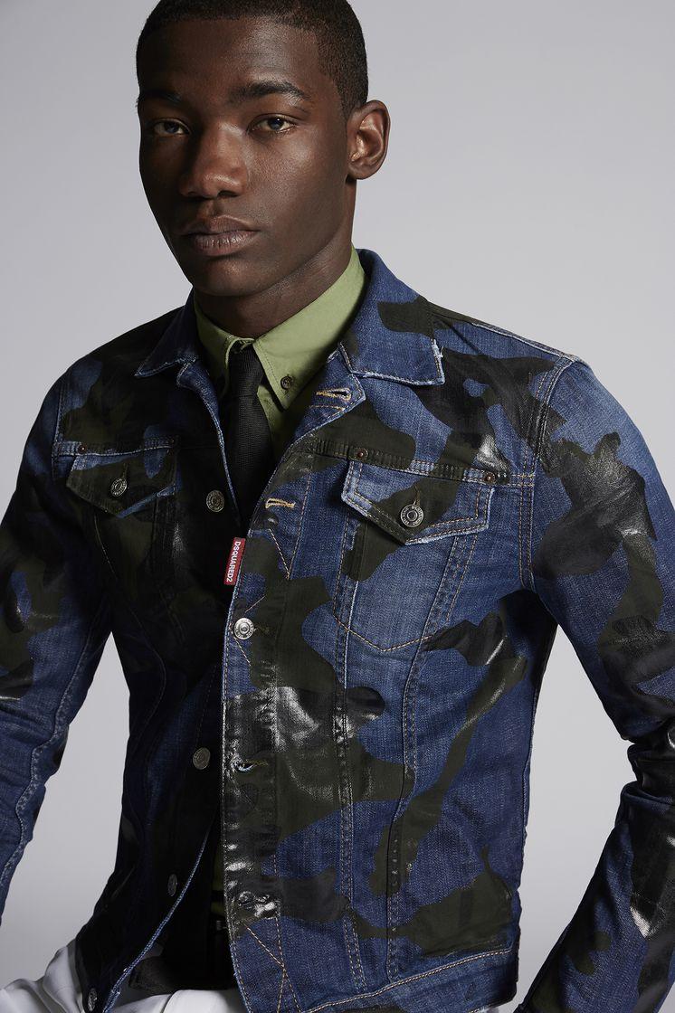 DSQUARED2 Camouflage Dan Denim Jacket Denim outerwear Man
