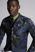 DSQUARED2 Camouflage Dan Denim Jacket Denim outerwear Man