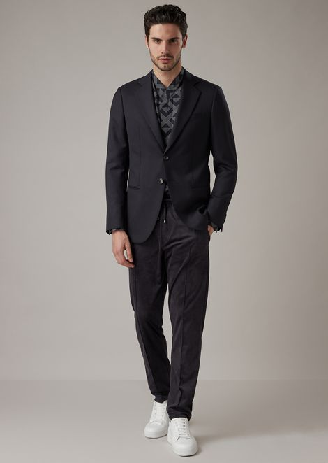 George Line deconstructed jacket in two-sided plain-woven fabric