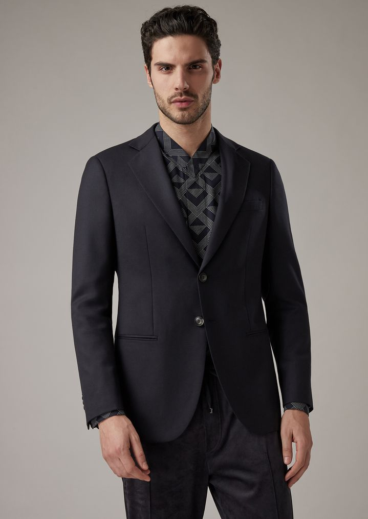 6463459137 George Line deconstructed jacket in two-sided plain-woven fabric