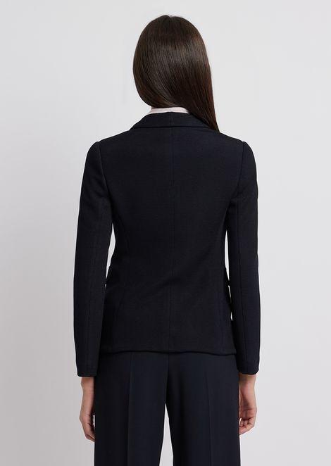 Двубортный пиджак из уплотненного джерси