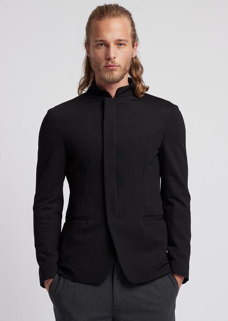 Пиджак из технического джерси сузором вмелкий горошек