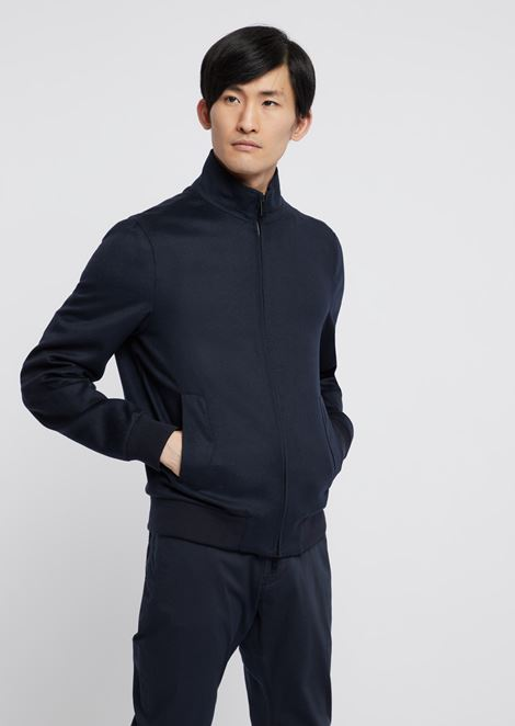 Blouson in pure cashmere cloth