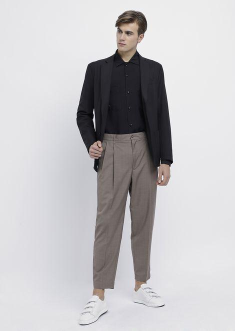 Двубортный пиджак из эластичной технической ткани