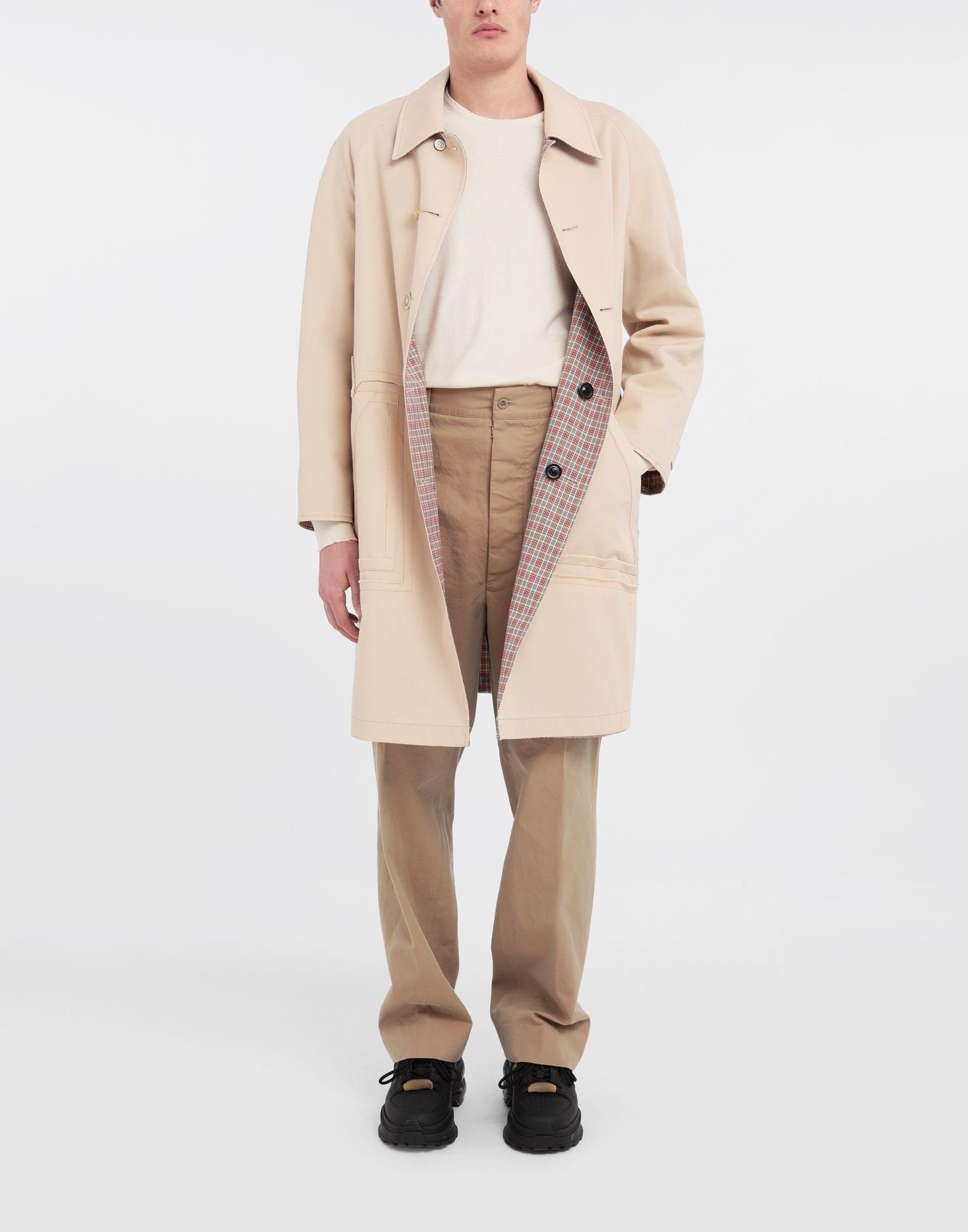 MAISON MARGIELA Reversible Décortiqué wool coat Full-length jacket Man d