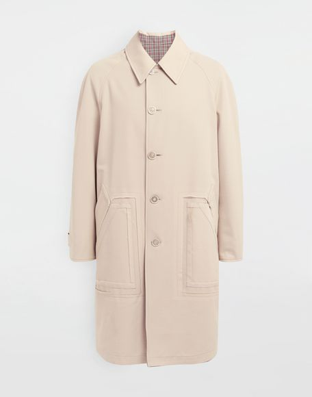MAISON MARGIELA Reversible Décortiqué wool coat Full-length jacket Man f