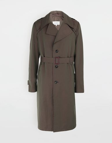 MAISON MARGIELA Raincoat [*** pickupInStoreShippingNotGuaranteed_info ***] Décortiqué tonic gabardine trench coat f