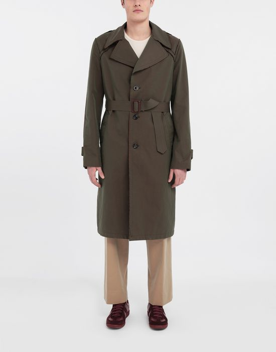 MAISON MARGIELA Décortiqué tonic gabardine trench coat Raincoat [*** pickupInStoreShippingNotGuaranteed_info ***] r