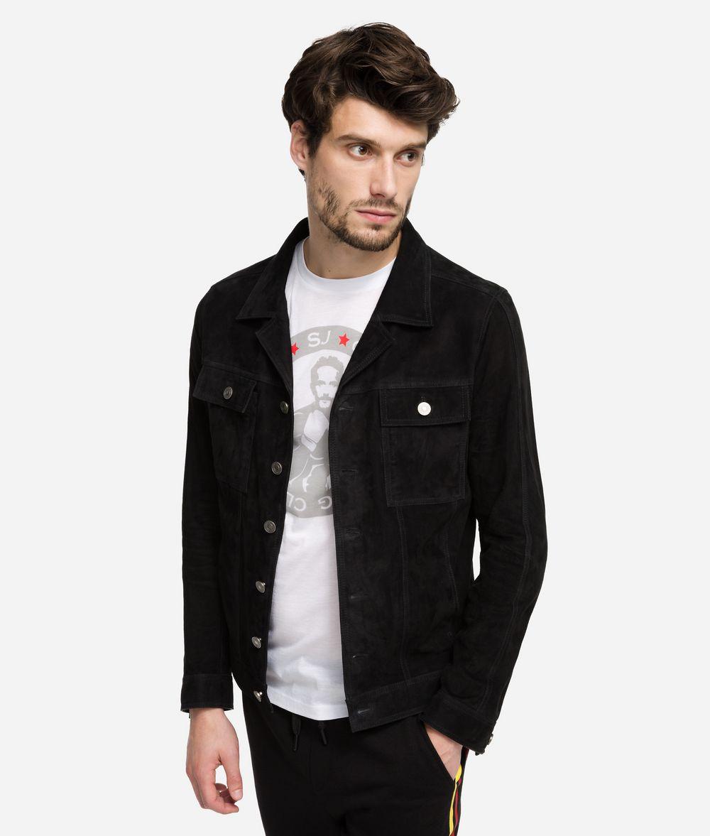 KARL LAGERFELD Suede Jacket Jacket Man f