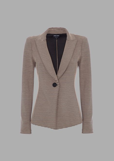 Two-tone striped ottoman jacket