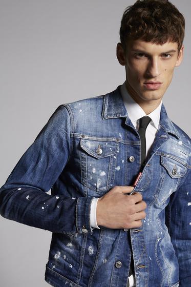 DSQUARED2 Capospalla jeans Uomo S74AM0881S30342470 m