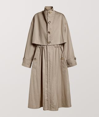 TRENCH COAT IN TECHNO COTTON