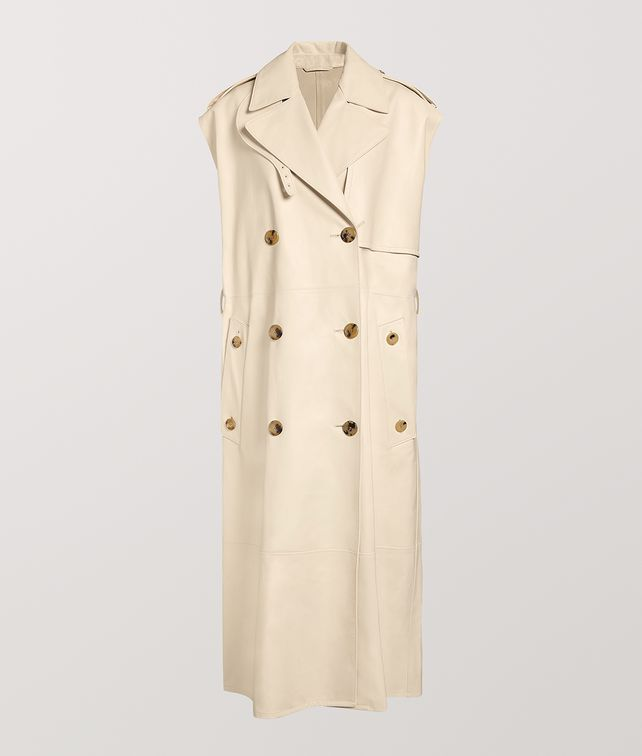 BOTTEGA VENETA TRENCH COAT IN CALF LEATHER Outerwear and Jacket Woman fp
