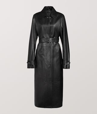 COAT IN CALF LEATHER