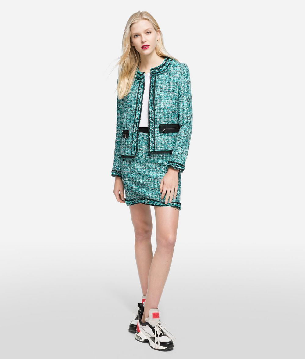 KARL LAGERFELD Bouclé Jacket with Pin Jacket Woman f