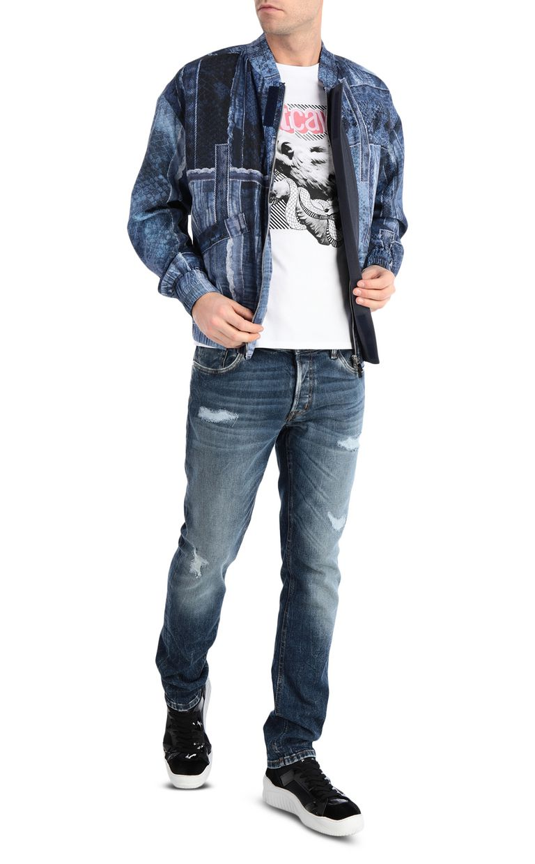 JUST CAVALLI Denimflage bomber jacket Jacket Man d