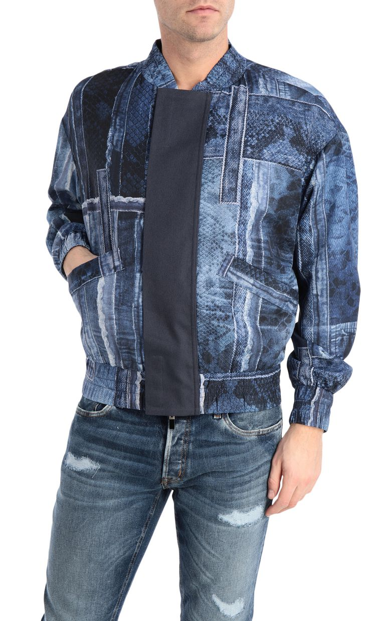 JUST CAVALLI Denimflage bomber jacket Jacket Man f