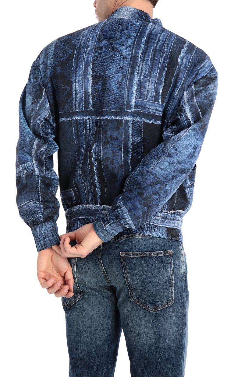JUST CAVALLI Denimflage bomber jacket Jacket Man r