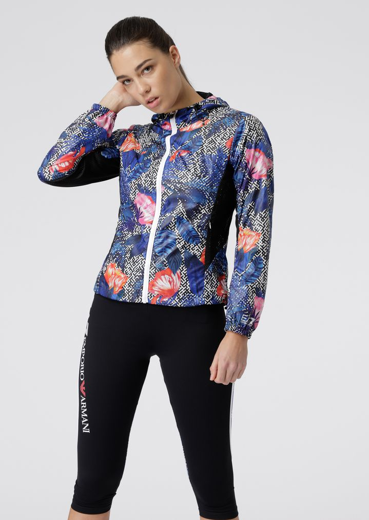 c74cf22496 Floral blouson in ultralight Ventus7 technical fabric