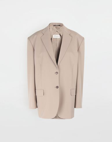 MAISON MARGIELA Thermo-fused tape wool-blend jacket Jacket [*** pickupInStoreShipping_info ***] f
