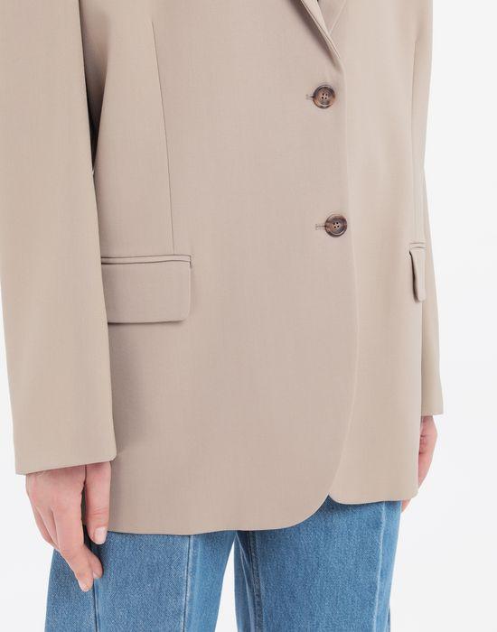 MAISON MARGIELA Thermo-fused tape  wool-blend jacket Blazer [*** pickupInStoreShipping_info ***] a