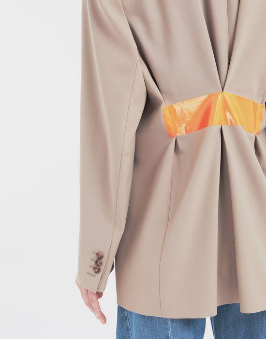 MAISON MARGIELA Thermo-fused tape  wool-blend jacket Blazer [*** pickupInStoreShipping_info ***] b