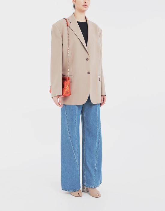 MAISON MARGIELA Thermo-fused tape  wool-blend jacket Blazer [*** pickupInStoreShipping_info ***] d