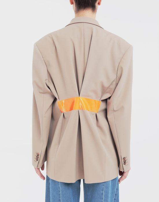 MAISON MARGIELA Thermo-fused tape  wool-blend jacket Blazer [*** pickupInStoreShipping_info ***] e