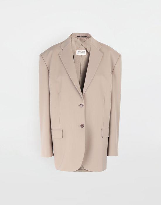 MAISON MARGIELA Thermo-fused tape  wool-blend jacket Blazer [*** pickupInStoreShipping_info ***] f
