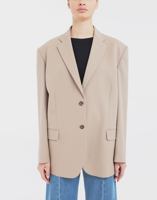 MAISON MARGIELA Thermo-fused tape  wool-blend jacket Blazer [*** pickupInStoreShipping_info ***] r