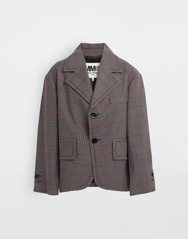 MM6 MAISON MARGIELA Blazer [*** pickupInStoreShipping_info ***] Oversized checked wool jacket f