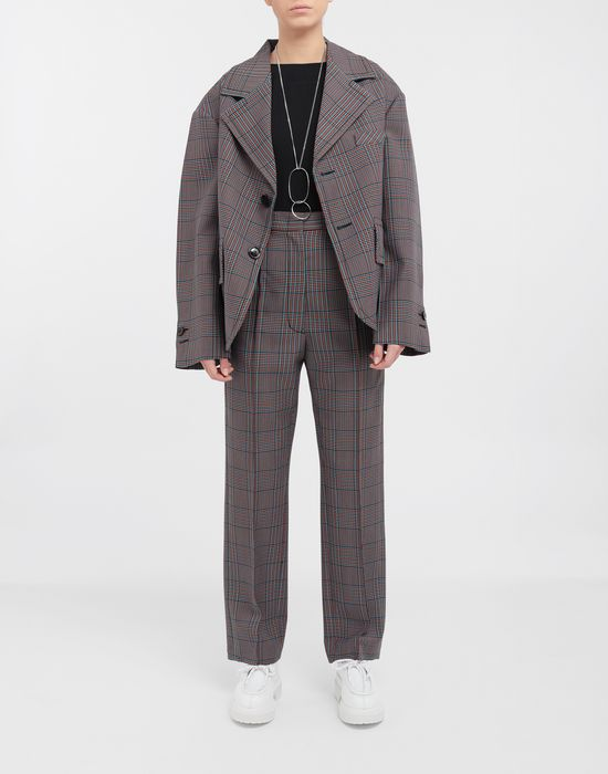 MM6 MAISON MARGIELA Oversized checked wool jacket Jacket [*** pickupInStoreShipping_info ***] d