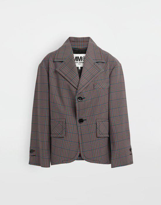 MM6 MAISON MARGIELA Oversized checked wool jacket Blazer [*** pickupInStoreShipping_info ***] f