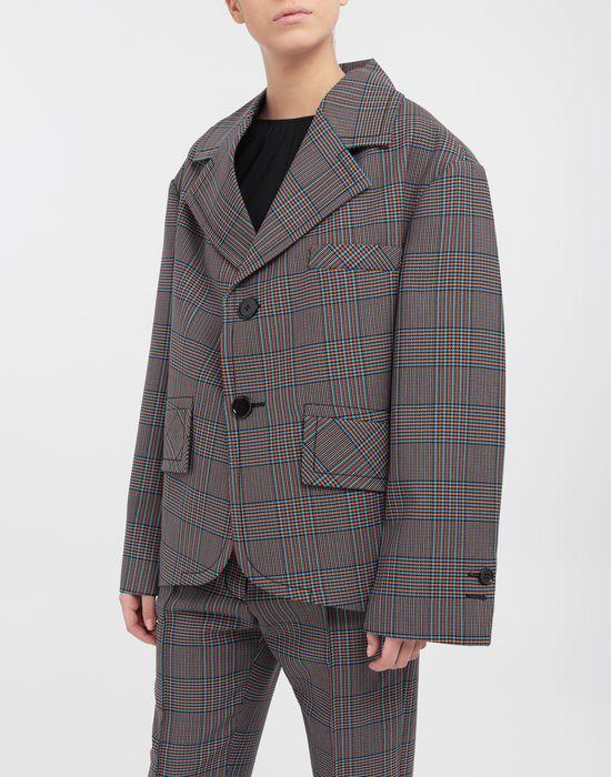 MM6 MAISON MARGIELA Oversized checked wool jacket Jacket [*** pickupInStoreShipping_info ***] r