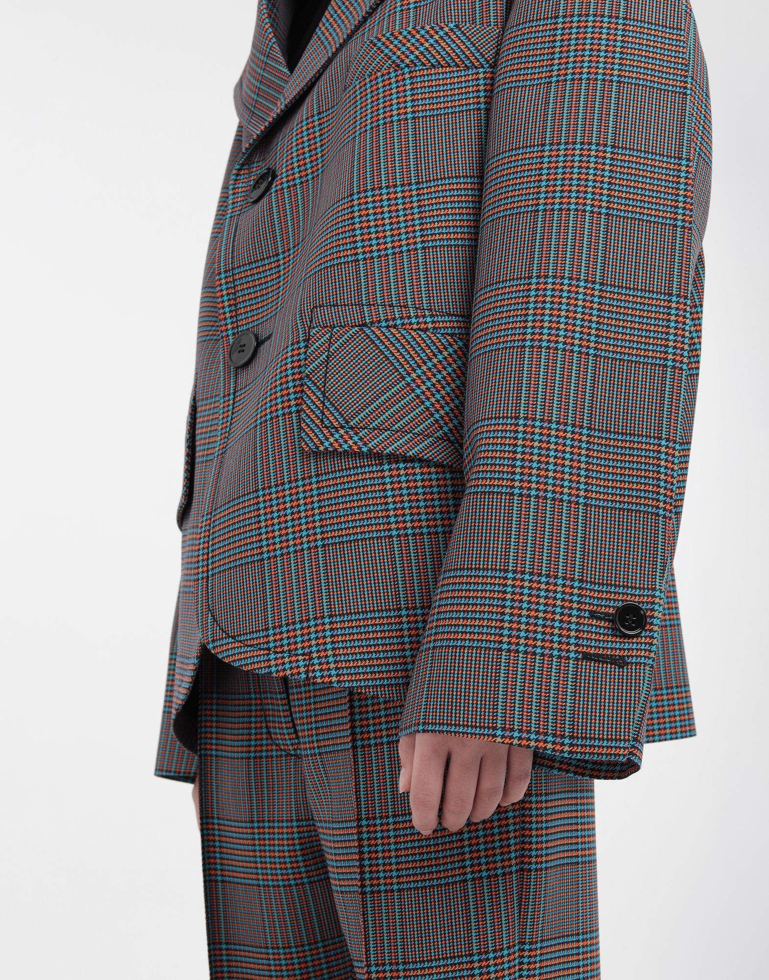 MM6 MAISON MARGIELA Oversized checked wool jacket Jacket Woman a