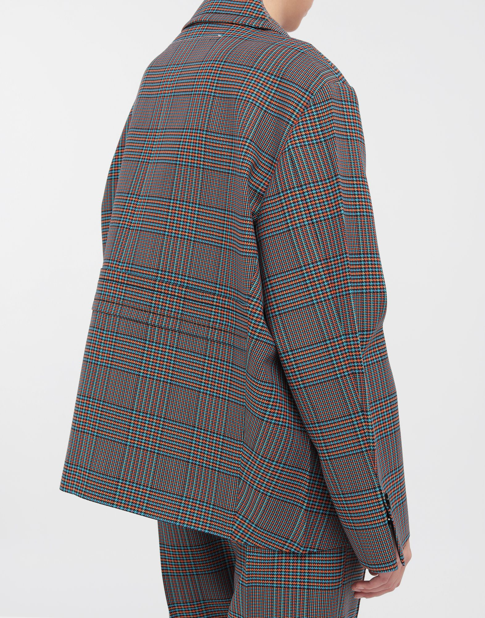 MM6 MAISON MARGIELA Oversized checked wool jacket Blazer Woman b
