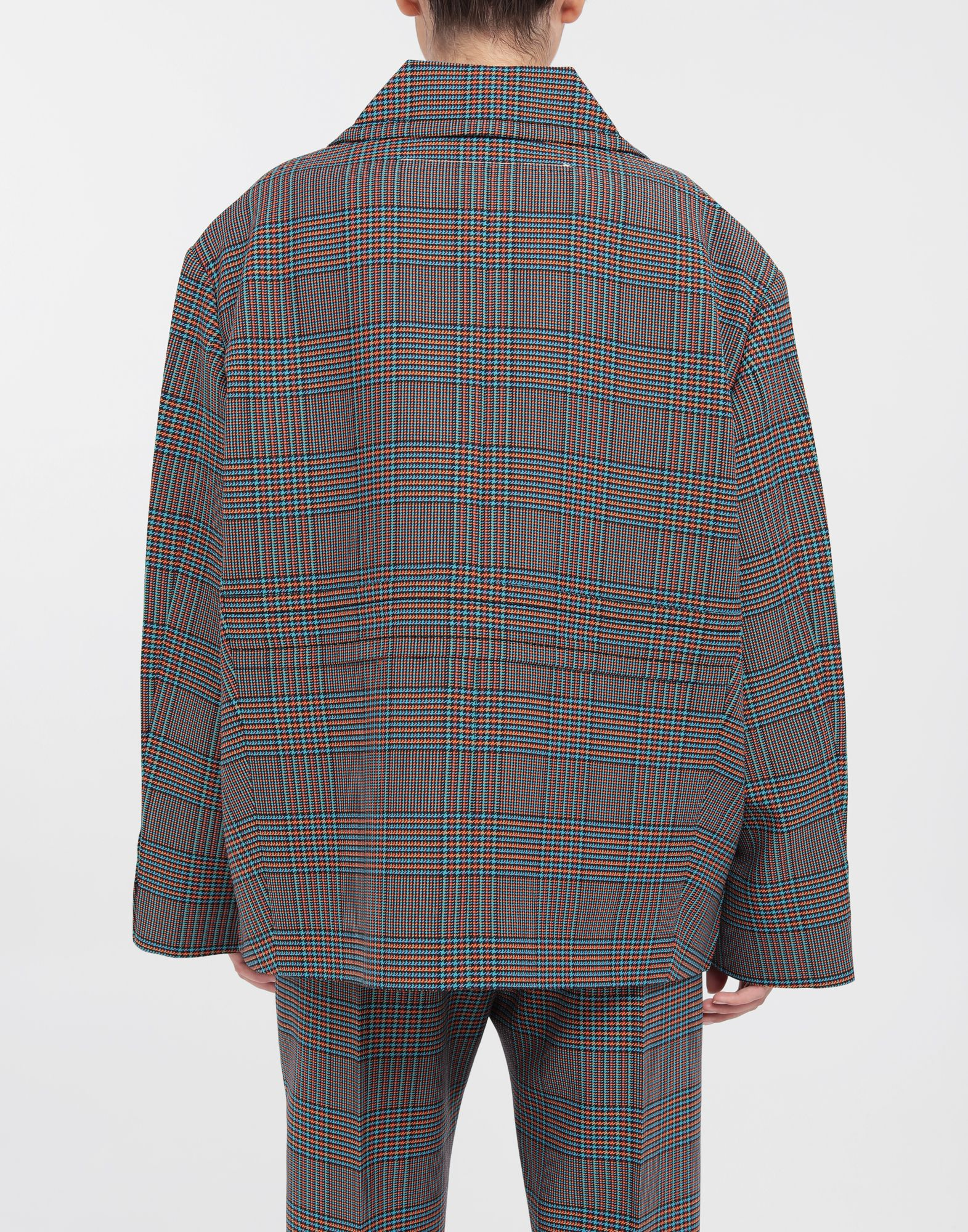 MM6 MAISON MARGIELA Oversized checked wool jacket Blazer Woman e