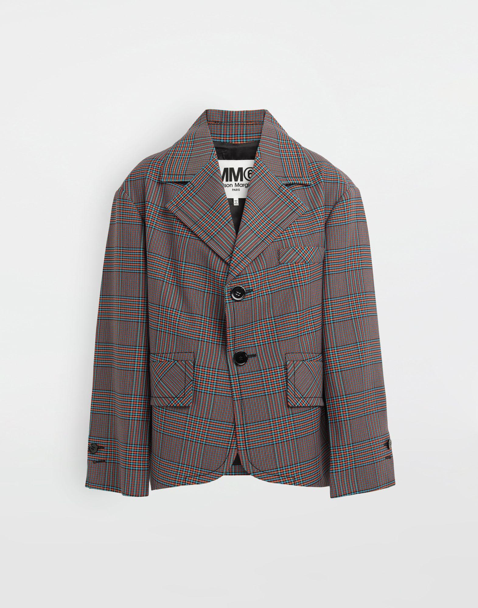 MM6 MAISON MARGIELA Oversized checked wool jacket Blazer Woman f