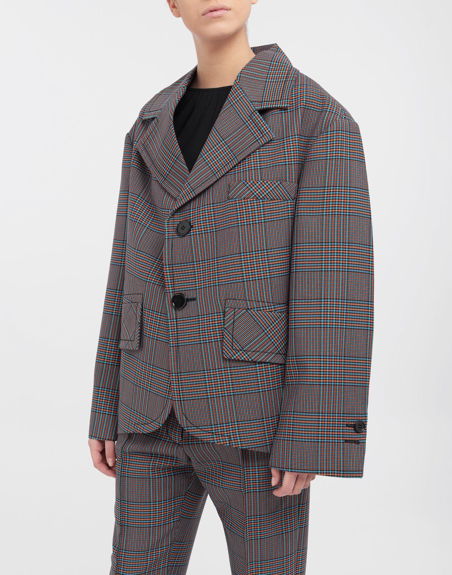 MM6 MAISON MARGIELA Oversized checked wool jacket Blazer Woman r
