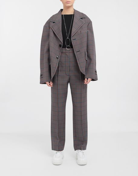 MM6 MAISON MARGIELA Oversized checked wool jacket Blazer Woman d