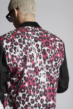 DSQUARED2 Pvc Layered Leopard Jacket  Leather outerwear Man